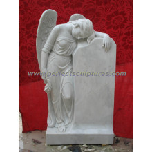 Marble Granite Angel Tombstone Monument Headstone for Cemetery Statue (SY-X1221)
