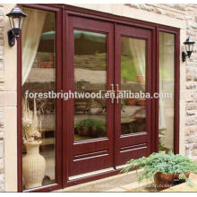 Novedades 2014 doble puerta de madera Exterior de la puerta francesa para el balcón