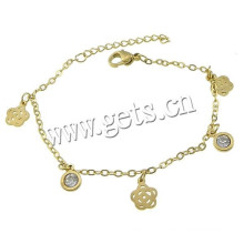 Gets.com 2015 stainless steel anklet with gold color