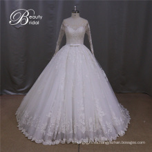 Vestidos de novia A-Line Alencon Lace Wedding Dress