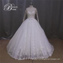 Vestido de noiva elegante a linha do fabricante