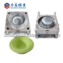 Wholesale injection laundry basket mould maker plastic basket mould supplier