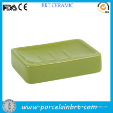 Umweltfreundlicher grüner rechteckiger Seifenhalter
