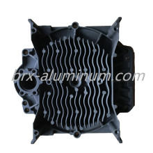 Hard anodized aluminum part for turbo