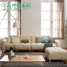 Sofá de cuero moderno apartamento pequeño de estilo japonés sala de combinación