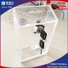 Hot Sale Acrylic Donation Box with Key Lock