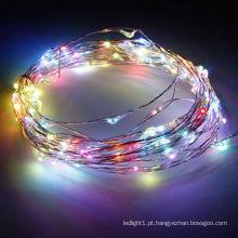 Fio de cobre LED RGB 10m 100, lâmpada LED de luzes de fada para decoração
