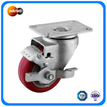 Swivel Red PU Caster Wheel