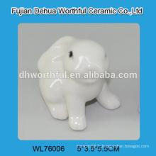 Excellente décoration d'animaux en céramique, statue en lapin blanc
