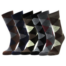 Men`S Cotton Diamond Dress Socks