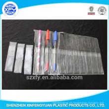 Bolso transparente de la pluma del PVC para el embalaje y el llevar