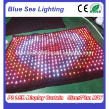 LED palco iluminação LED Curtain Pitch 9 centímetros LED Display Curtain
