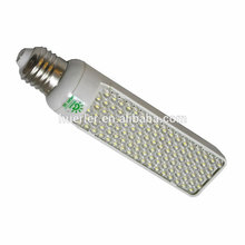 China fornecedor levou alumínio capa E27 102 led levou luz PL blub