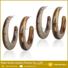Cheap Wholesale Jewelry Acrylic Resin Half Hoop Earring