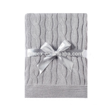 PK17ST374 knitted 100% cashmere throw cashmere blanket