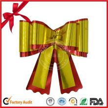 Regalo metálico de la decoración de la Navidad Arco de la cinta
