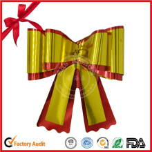 Metallic Christmas Decoration Gift Ribbon Bow