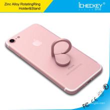 Tenedor del anillo del metal del finger tenedor del anillo del teléfono móvil de 360 grados soporte para coche del teléfono celular de la gota