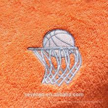 buena toalla deportiva absorbente suave del deporte del baloncesto del bordado ST-005