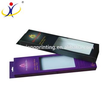 Tamaño personalizado que imprime cajas de empaquetado de la extensión elegante al por menor del pelo con la ventana