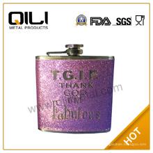 Тиснение на Склянка вакуума фляга кожа кожа колбу фиолетовый колбу