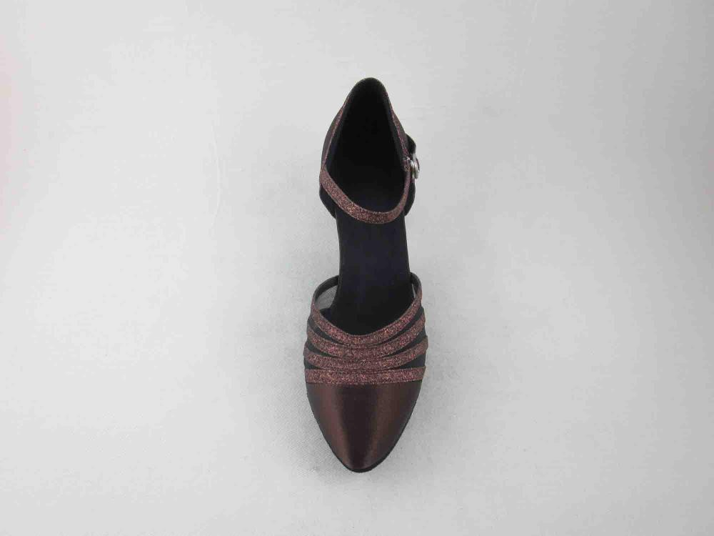 Brown Satin Dance Shoes For Ladies