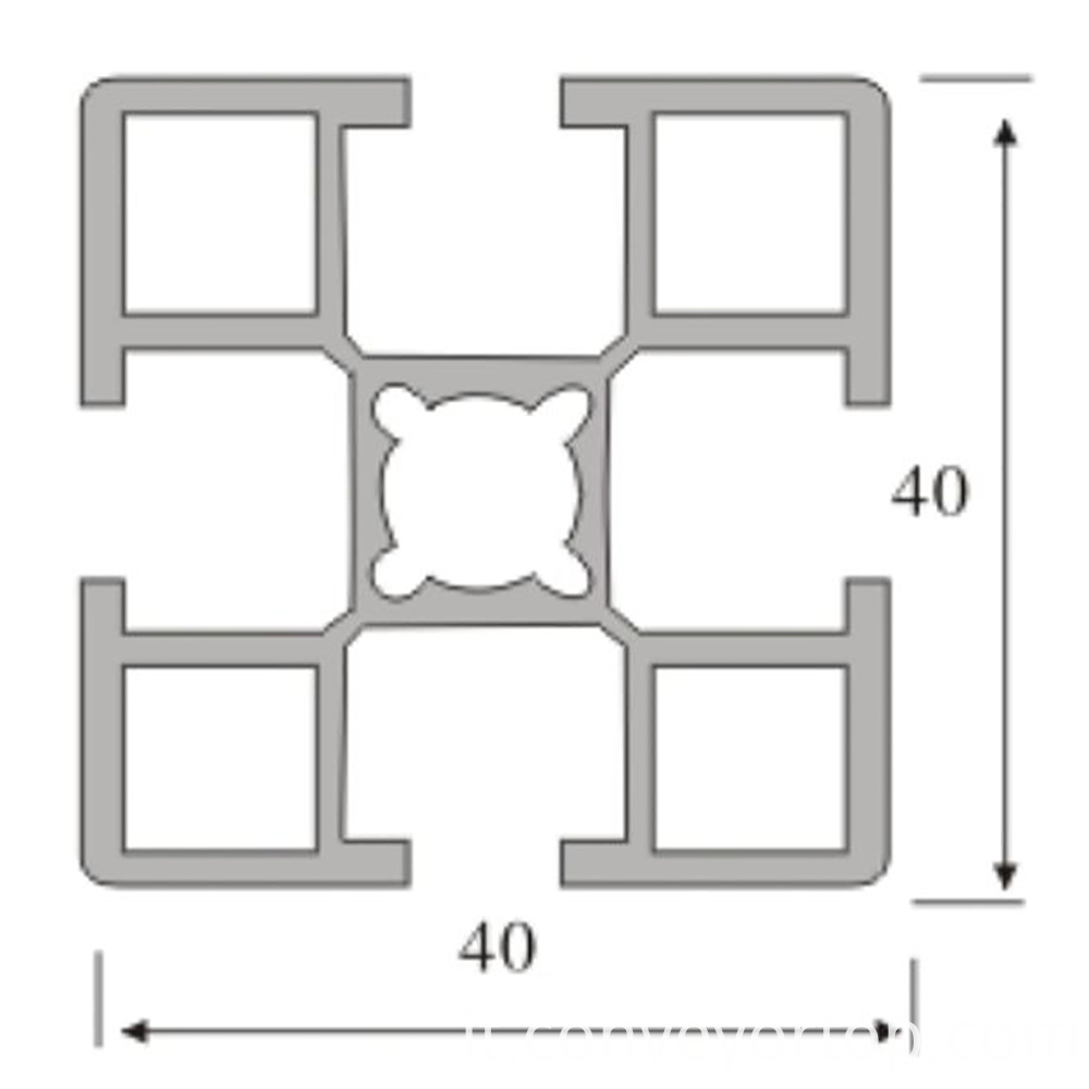 4040 Aluminum Extrusion Drawing