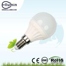 el ahorro de energía 3w llevó la cubierta plástica del smd e14 230v del bulbo