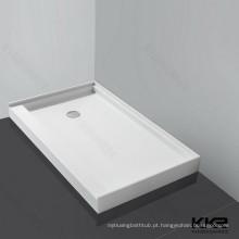 Base de pedra do chuveiro do banheiro da resina, bandeja de canto do chuveiro