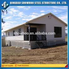 Quadro de aço pré-fabricado Design de casas modulares de baixo custo