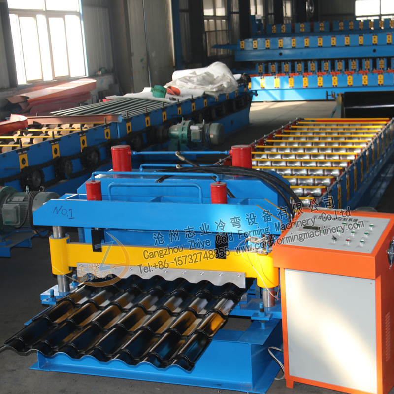 Botou High Efficiency PPGI Glazed Roof Machine