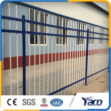 2016 hot sale cheap wrought iron fence , steel palisade fence