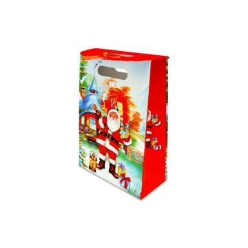 Cartoon Christmas Paper Gift Bag