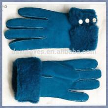 Assorted Colorful Fur Gloves Sheepskin Fur Gloves Fashion Fur Gloves