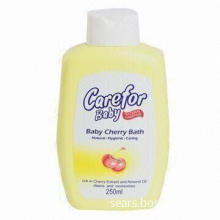 Baby Cherry Bath with Cherry Extract and Almond Oil, Cleans and Moisturizes Skin
