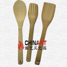 Ensemble de cuillère de cuisine en bambou (CB03)