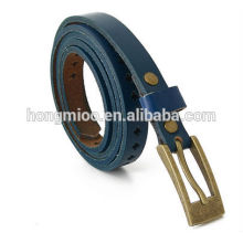 Ceinture en cuir élastique Ceinture en cuir coréenne avec ceinture en cuir véritable personnalisable