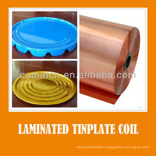PET film laminate tinplate varnish coil for metal package