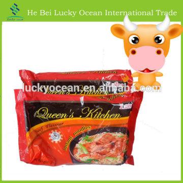 75g beef flavor in bag instant noodles