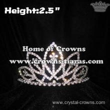 Mini Crystal Flower Small Crowns Tiaras