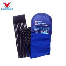 Envoltório traseiro com o bloco do gel para a compressa quente e fria do corpo