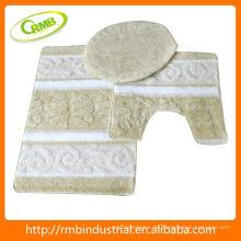 3pcs Acrylbad-Matte mit Latex-Rückseiten-Haushaltseinzelteil