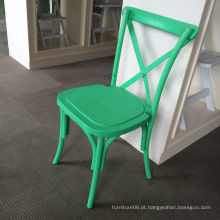 Cadeira traseira verde da resina plástica PP empilhável