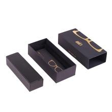 Caja de cristal impresa negro de lujo de las cajas de empaquetado del diseño