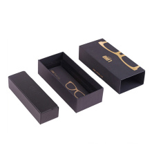 Luxury Design Black Printed Packaging Boxes Glasses Case