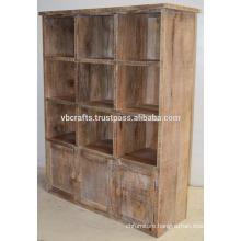 Wooden Wine Bottle Display Cabinet