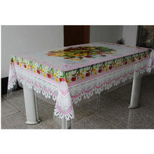 Square Shape Table Cloth Plastic Transparent