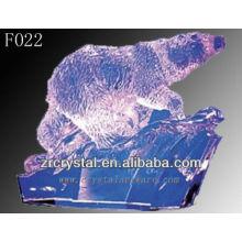 Ours sculpté à la main en cristal K9