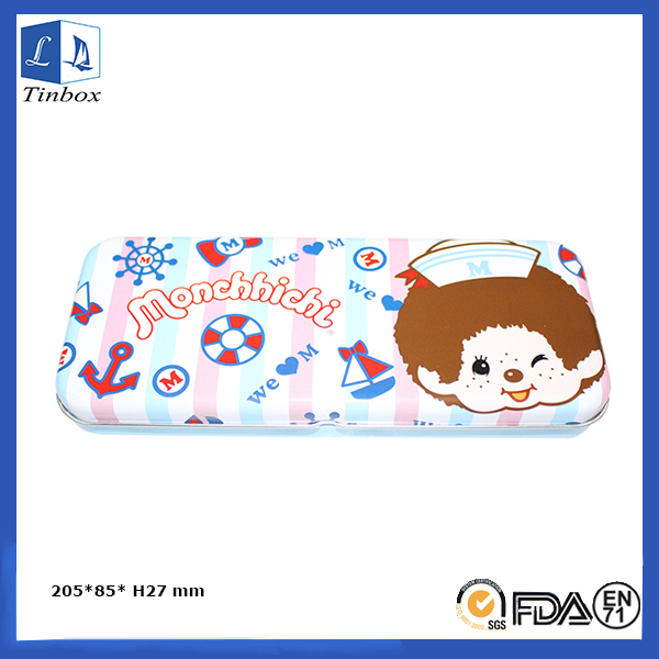 Rectangular Colorful Pencil Case Tin Box
