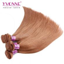 Couleur # 30 Extension de cheveux Remy péruvienne